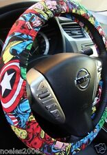 Hand Made Steering Wheel Covers Marvel Comic Hulk, Captain America Spider man