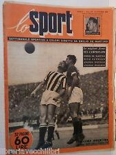 LO SPORT N 22 4 ottobre 1951 Arcadio Venturi Casari Ghezzi Moro Juventus Napoli