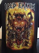 Rare Iced Earth Tour Shirt Sz XL Gutterial Rock Heavy Satanic Thrash Metal 666