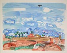"""""""Au Maroc : Marrakech"""" lithographie signée Raoul DUFY"""