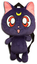 **License Bag** Sailor Moon Black Guardian Cat Luna Plush Bag Backpack #84598