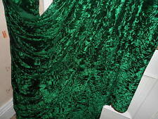 6 MTR  QUALITY BOTTLE GREEN ICE CRUSHED VELVET FABRIC..58 ICNHES WIDE