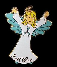 Teal Ribbon Angel Blonde Lapel Pin Ovarian Cancer Thyroid Awareness Pins New