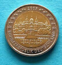 Deutschland  2 Euro Gedenkmünze 2007 F Mecklenburg - Schloss Schwerin aus Rolle