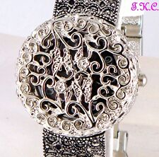 Victorian Nouveau Vintage Deco Silver Butterfly Filigree Ladies Bracelet Watch