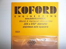 """Koford .024 x 3/32"""" diameter stainless axle spacers"""