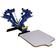 4 Color Silk Screen Printing Machine 1 Single Station Press DIY Shirt Equipment