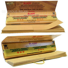 RAW CONNOISSEUR Natural UNREFINED KING SIZE ROLLING PAPERS + FILTER TIPS