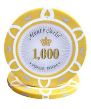 50pcs 14g Monte Carlo Poker Room Casino Poker Chips $1000