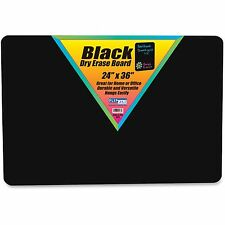 "Flipside Products Dry Erase Board 24""x36"" Black 40088"