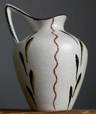 Vintage 50s EMONS&SOHNE (ES Keramik) Willi Hack Vase Pitcher German Fat Lava Era
