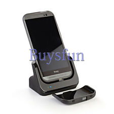 Black USB SYNC DESKTOP CHARGER DOCK Cradle Docking Station For HTC One M8 2014