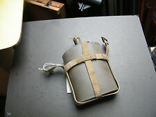 (wb4) WW1 or 2.  water bottle, canvas cradle.