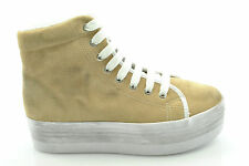 Jc Play by Jeffrey Campbell scarpe sneakers zeppa HOMG SUEDE WASH SAND n° 40