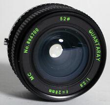28MM F/2.8 LENS FOR OLYMPUS OM MOUN W/ REAR CAP
