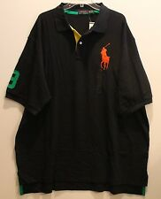 Polo Ralph Lauren Big and Tall Mens Navy Blue Big Pony Polo Shirt NWT XLT XLarge
