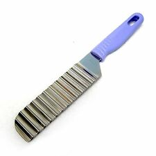 New Stainless Steel Potato Wavy Cutting Knife With Plastic Handle Zigzag Slicer