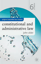 Constitutional and Administrative Law (Palgrave Macmill..., John Alder Paperback