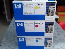 NEW Genuine HP 503A Clr Toner Set of 3: Cyan Yellow Mag  Q7581A  Q7582A Q7583A
