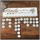 Family Birthday Planner Reminder Special Occasion Plaque Birthday Gift for Mum