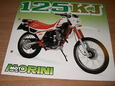 Moto Morini  125 KJ  (brochure-depliant -Folded -prospekt)