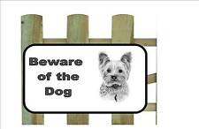 Yorkshire Terrier Dog Beware of the Dog  Design Metal Door Sign