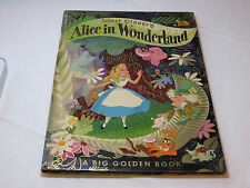 Walt Disneys Alice in Wonderland 1951 book Big Golden Hardcover Vintage #%