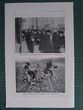 1917 WWI WW1 PRINT ~ POTATO SHORTAGE ~ SOWING SEED POTATOES METROPOLITAN RAILWAY