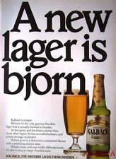 1980 Pripps 'KALBACK' Swedish Lager Advert - Original Beer Print AD