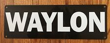 Waylon Jennings Outlaw Country Music Texas Guitar Vintage Poster Metal Sign