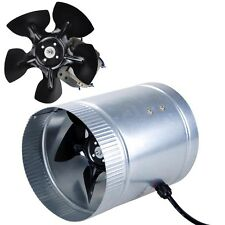 "6"" Inline Duct Fan CFM Booster Exhaust Blower Aluminum Blade Air Cooling Vent"