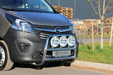 PARE BUFFLE INOX RENAULT TRAFIC 14-, NON HOMOLOGUE, SUPPORTS DE PHARE X3, 60MM