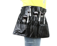 24 Pockets Professional Cosmetic Makeup Brush Apron Bag Artist Belt Strap Holder