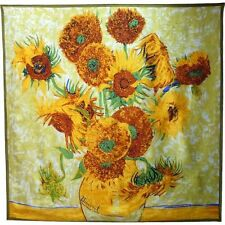 SCARF SILK VINCENT VAN GOGH SUNFLOWERS IN PROVENCE FRANCE ARLES IMPRESSIONISM