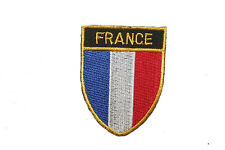 FRANCE COUNTRY FLAG OVAL SHIELD FLAG EMBROIDERED IRON-ON PATCH CREST BADGE