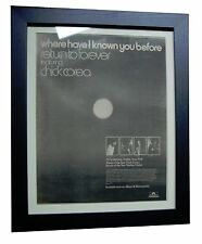CHICK COREA+Return To Forever+ORIGINAL 1974 POSTER AD+FRAMED+FAST GLOBAL SHIP