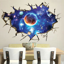 3D Space Sky Decal Vinyl Decor DIY Art Home Living Room Wall Sticker Removeable
