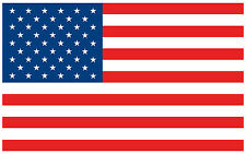 "5"" American Flag USA Decal Sticker Vinyl Patriotic Stars and Stripes"