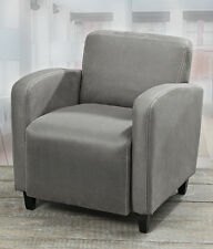 CHAIR IN GREY MODEL KELSEY 75cm HEIGHT LEATHER IMITATION CLUB CHAIR LOUNGE CHAIR