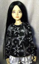 Black/glitter stars sweatshirt for MSD, DIM Happy, 1/4 bjd DOLL