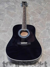HÖFNER HAS 6string Western Gitarre black dreadnought guitar Westerngitarre