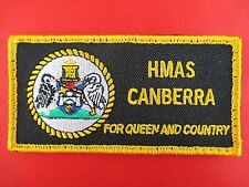 ORIGINAL ROYAL AUSTRALIAN NAVY HMAS CANBERRA SHOULDER PATCH INSIGNIA