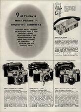 1959 PAPER AD 2 PG Minolta Regula Ricoh Brumberger 35MM Twin Lens Reflex Camera