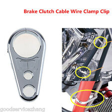 """25mm 1"""" Chrome Motorcycle Brake Line Clutch Cable Handlebar Frame Clamp Clips"""