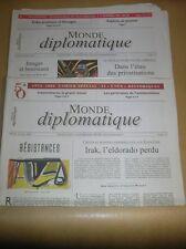 LOT 2 JOURNAUX / LE MONDE DIPLOMATIQUE N° 602-603 / MAI, JUIN 2004 / BON ETAT