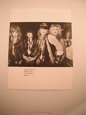 Guns N Roses GnR Coffee Table Book Photo Page Photoshoot 1985