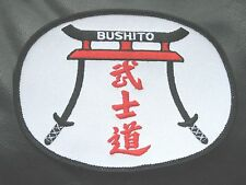 BUSHITO EMBROIDERED SEW ON ONLY PATCH MARTIAL ARTS JAPANESE SAMURAI