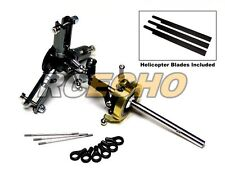 Flybarless Metal Main Rotor Head & 3 Blades for Align T-REX 450 Helicopter RH450