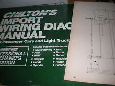 1989 DODGE COLT VISTA EAGLE VISTA WIRING DIAGRAMS SCHEMATICS MANUAL SHEETS SET