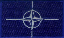 "2 NATO Flag Embroidered Patches 2.5""x1.5"""